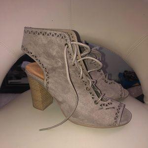 Beige/Gray Charlotte Russe Heels